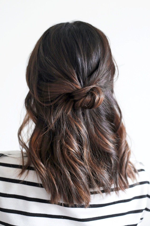 half up knot hairstyle